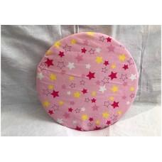 Bezug für Drehteller 35 cm Ø (Sterne rosa)