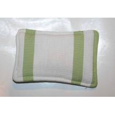 Baldriankissen ( weiß/ Gras grün Streifen)