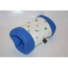 Kuschelrolle (Rosen blau)