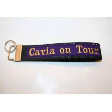 Schlüssel-Anhänger / Cavia on Tour/ Lila