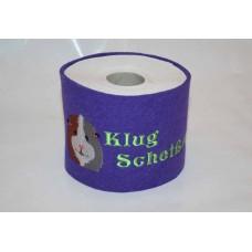Klopapier Banderole - WC Papier Schutz (Lila-Klug Scheißer)