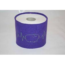 Klopapier Banderole - WC Papier Schutz (Lila-Herzklopfen)