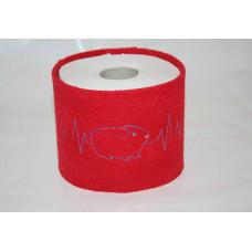 Klopapier Banderole - WC Papier Schutz (rot-Herzklopfen)