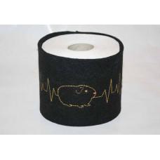 Klopapier Banderole - WC Papier Schutz (schwarz-Herzklopfen)