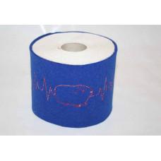Klopapier Banderole - WC Papier Schutz (blau-Herzklopfen)