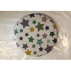 Bezug für Drehteller 38 cm bis 35cm Ø (Sterne grün)
