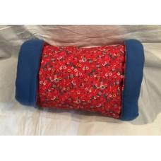 Kuschelrolle XL (Blumen rot)