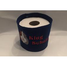 Klopapier Banderole - WC Papier Schutz (Blau-Klug Scheißer)