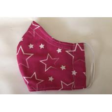 Behelfs- Mund- Nasen Masken (Sterne Pink)