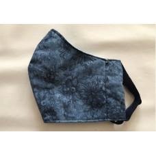 Behelfs- Mund- Nasen Masken (Blau Blumen)