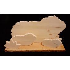 Handgefertigte Holz - Meerschweinchen  Familie (3)