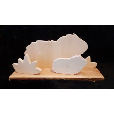 Handgefertigte Holz - Meerschweinchen  Familie (2)