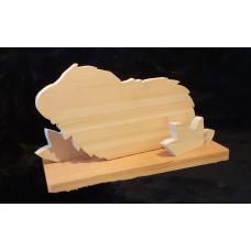 Handgefertigte Holz - Meerschweinchen  Familie (1)