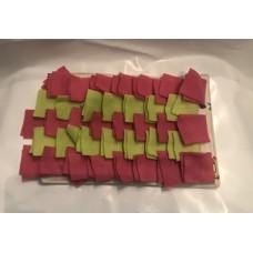 Schnüffelteppich (pink - grün)